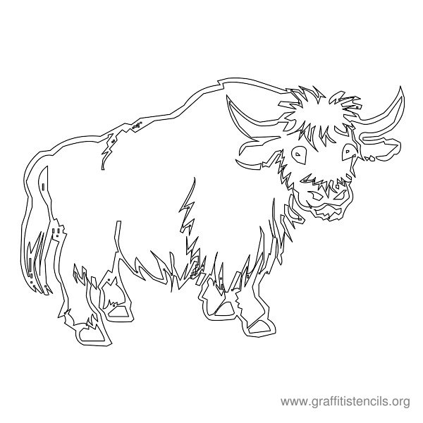 Graffiti Stencil Water Buffalo