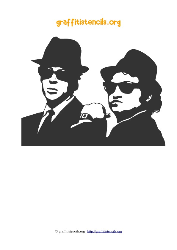 blues-brothers stencil