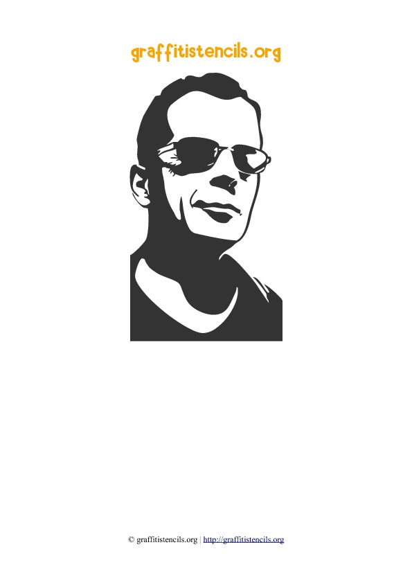 Bruce Willis People Faces Stencil