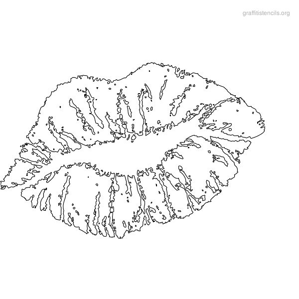 Kissing hand coloring page