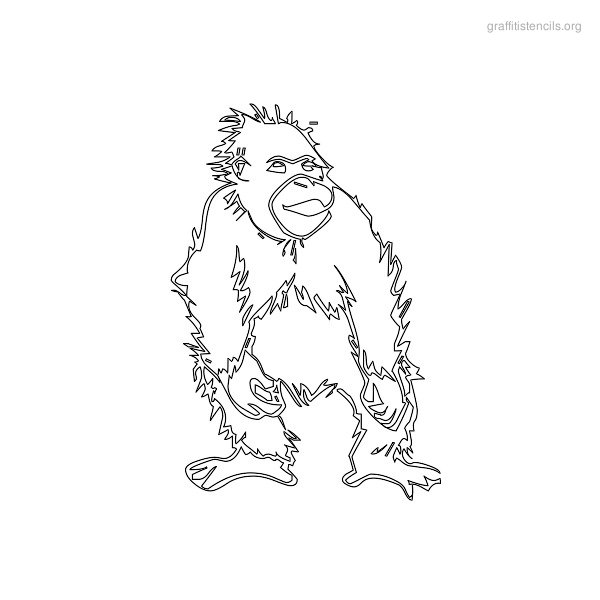 Monkey Graffiti Stencils